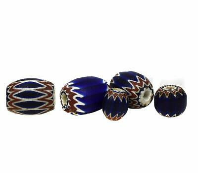 5 Chevrons Venetian Trade Beads Six Layer African