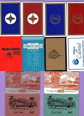 22 Single Swap Playing Cards ADS FOR HOTELS MOTELS INNS LODGES VINTAGE DECO LOT