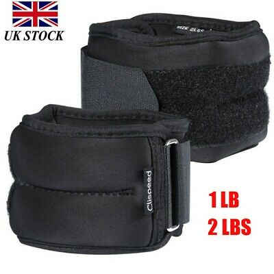 2x Clispeed Ankle Weights Leg Wrist Strap Running Training Fitness Gym Jogging