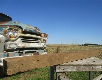 Reclaimed Barn Beam Wood Shelf, Architectural Salvage Fireplace Mantle a73,