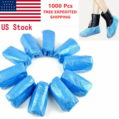 1000 Pcs Waterproof Plastic Shoe/Boot Cover Floor/Shoe Protector Indoor/Outdoor