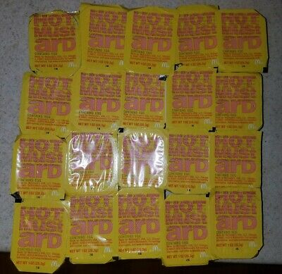 McDonald's HOT MUSTARD dipping Sauce Sealed Authentic Limited supply. Lot Of 20,