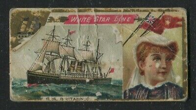 1887 Vintage Duke's Cigarettes Card N83 Ocean and River Steamers White Star Line