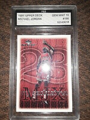 1999 Michael Jordan Upper deck Gem 10 MJ exclusives MVP #180 Card Chicago bulls