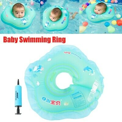 Safety Baby Swimming Pool Bath Shower Neck Floating Inflatable Ring Circle Toys