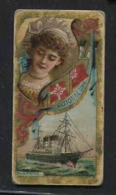 1887 Vintage Duke's Cigarettes Card N83 Ocean and River Steamers National Line