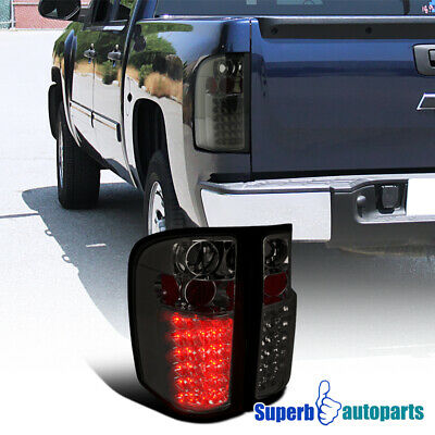 For 2007-2014 Chevy Silverado LED Brake Light Tail Stop Lams Smoke