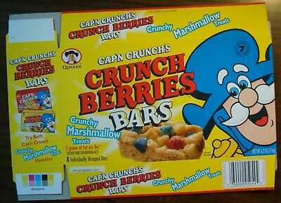 Cereal Cap'n Crunch's Crunch Berries Marshmallow Treat Bar-1997 Display Box