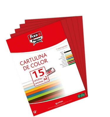 Fixo 11110656 ? Pack of 15 Sheets of Card, A4, Carmine Red