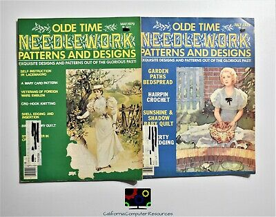 Old Time NeedleWork Patterns and Designs Crochet Knit Quilting Sewing Magazine