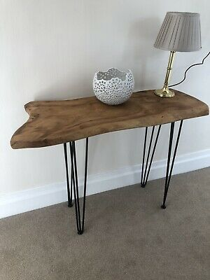 Brand New Antique Solid Pine Console Table Cast Iron Legs