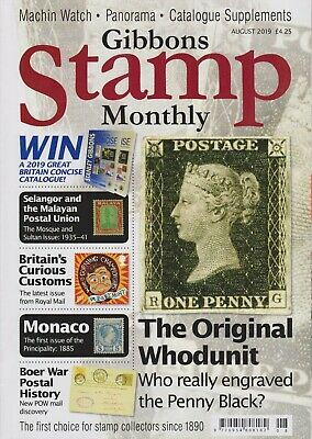 Gibbons Stamp Monthly, Vol 50, No 3, August 2019 - Cover Price £4.25