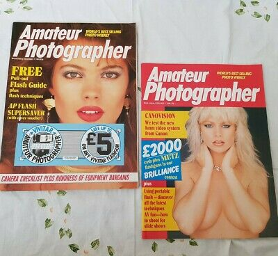 2 Vintage 85/86 Amateur Photographer  Weekly Magazines Very good Condition