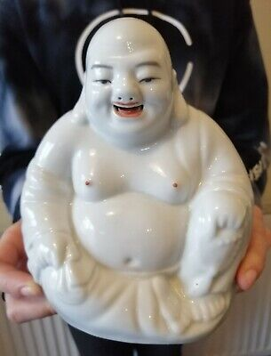Antique Chinese Buddha Porcelain Laughing Famille Rose