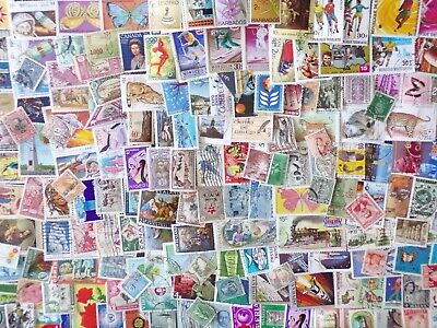 110g world kiloware stamps off paper: no GB : est 1100+ stamps, many countries