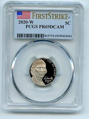 2020 W 5C Jefferson Nickel PCGS PR69DCAM First Strike