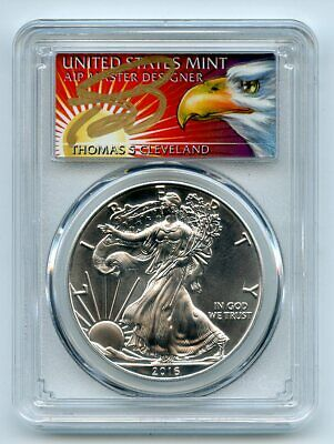 2016 (S) $1 American Silver Eagle 1oz PCGS MS70 Thomas Cleveland Eagle