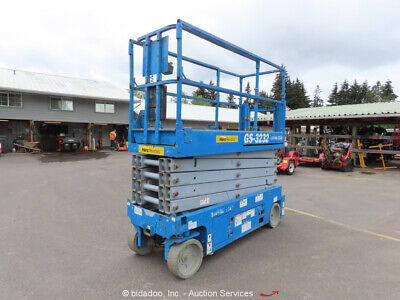 2013 Genie GS-3232 Electric 32' Scissor Lift Aerial Manlift 24V bidadoo -Repair