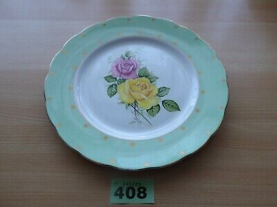 Vintage Floral Imperial Bone China plate - 22k.t gold