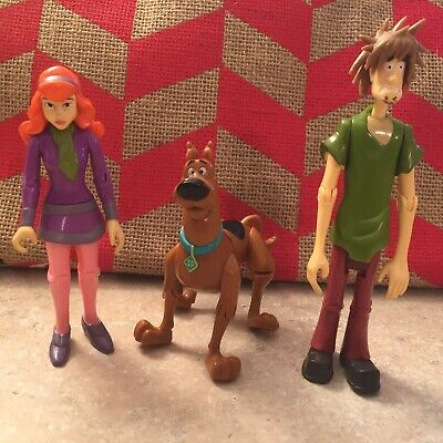 Scooby Doo Toys Lot Of 3 Hanna Barbera Vintage Bendable Legs Arms