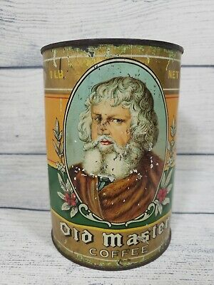 Old Master  Coffee Tin 1 Lb Advertising Collectible B-B Co. Vintage