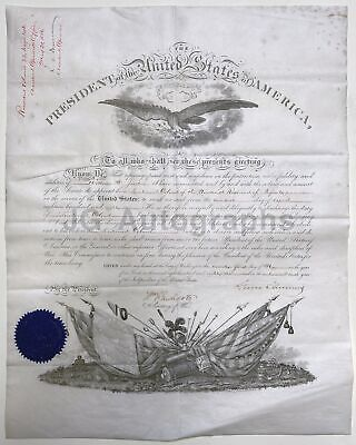 Grover Cleveland - 22th U.S. President - Oversized Autographed 1886  Appointment