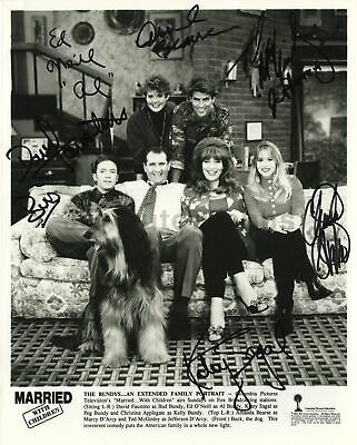 Married with Children - Rare Full Cast Vintage Signed 8x10 Photograph - Fine