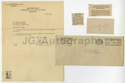 Jimmy Doolittle - Vintage WWII War Date Signature on Card, 1943