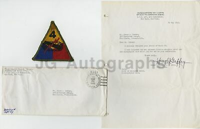 Hugh Garffey - US Army - Vintage WWII War Date Signature on TLS, 1945