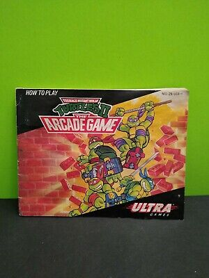 Teenage Mutant Ninja Turtles II: The Arcade Game NES Manual GENUINE US AUTHENTIC