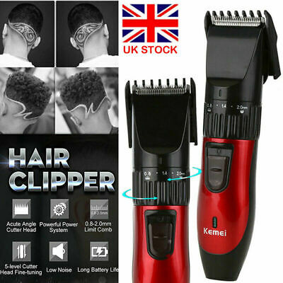 Professional Hair Clippers KEMEI Men Basic Barber Set Mains Trimmers Shaver UK