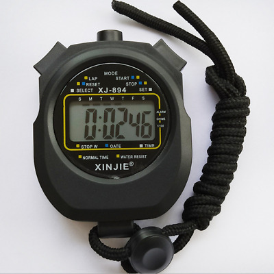 Digital LCD Chronograph Handheld Sports Counter Stopwatch Timer Stop Watch TOP