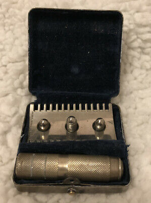Antique Travel Safety Razor With Metal Case Made In Berlin Germany