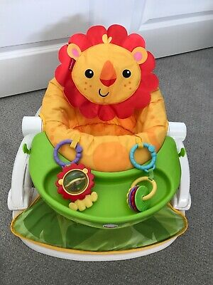 Fisher- Sit-me-up Floor Seat with Tray / Lion