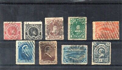 Newfoundland  - 1880/90's Issues x 9