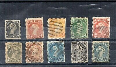 Canada  - Used - Large Queens x 10
