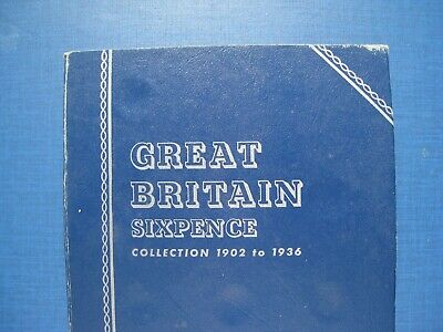 Whitman Folder 1902 - 1936 Sixpence Collection containing 19 Coins.