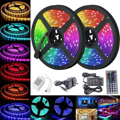 5050 RGB LED Strip Light Waterproof Flexible 1m-30m 12V 44key Controller Adapter