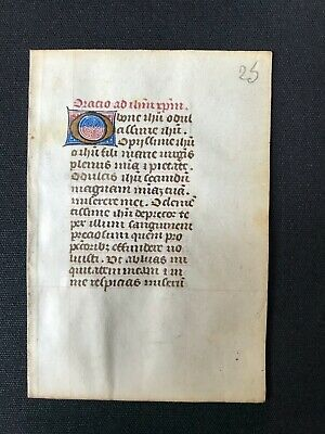 Original Leaf from 15th c. English Book of Hours