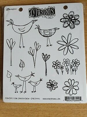 Dylusions stamp set  'How does your garden grow' DYR34445 rubber cling mounted