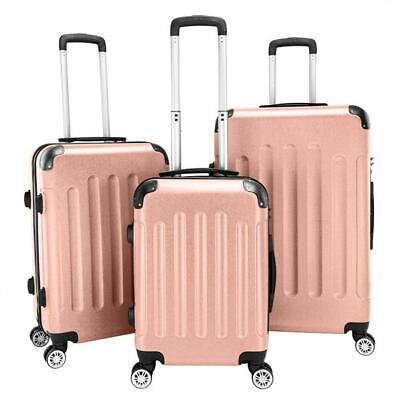 "3x Travel Luggage Carry On Set Bag Trolley Spinner Suitcase w/Lock  20"" 24"" 28"""