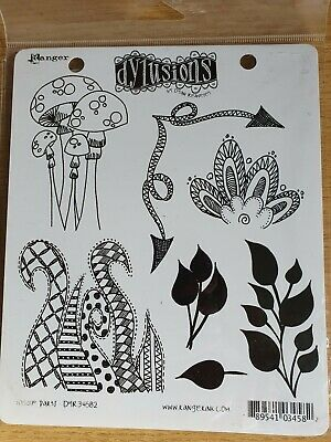 Dylusions stamp set  'Doodle Parts' DYR34582 rubber cling mounted.