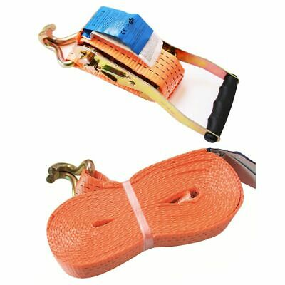 Tie down strap with ratchet + 2 hooks 8 meter 5000kg