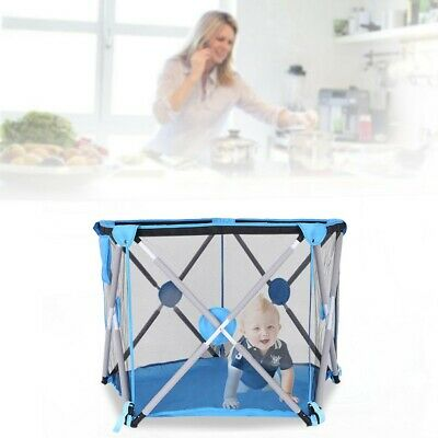 Kids Portable Collapsible Travel Crib Tent Ball Pool House Children's Playground