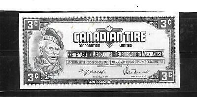 Canada Canadian 1974 3 Cent Vg Circulated Tire Money Currency Banknote  Note