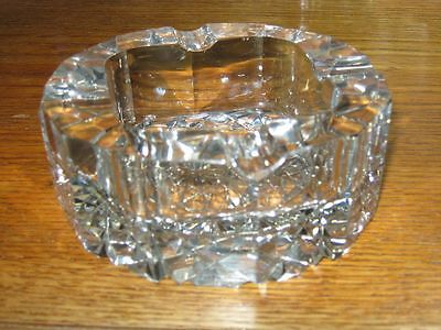 ABP Antique Gorgeous Simple Deep Cut American Brilliant Cut Crystal Ashtray