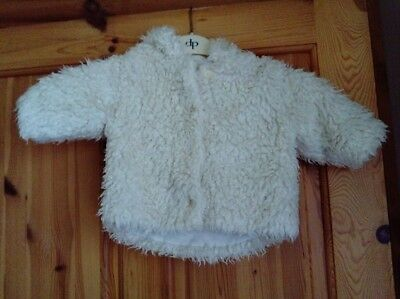 Baby Girls cream Hooded Jacket age 3-6 months