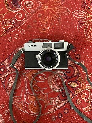 Canon Canonet-28 compact 35 mm auto camera/strap/case (Has Not Been Tested)