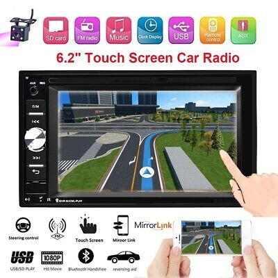 "6.2"" Double 2Din Touch Screen Car Stereo MP5 Bluetooth FM Radio Head Unit+Camera"