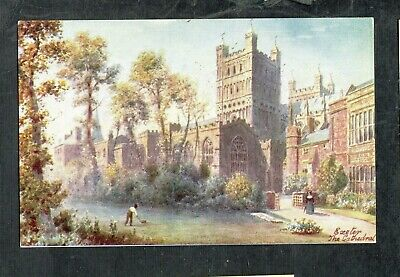 E735 Antique Postcard unused Raphael TUCK 7013 Exeter Cathedral